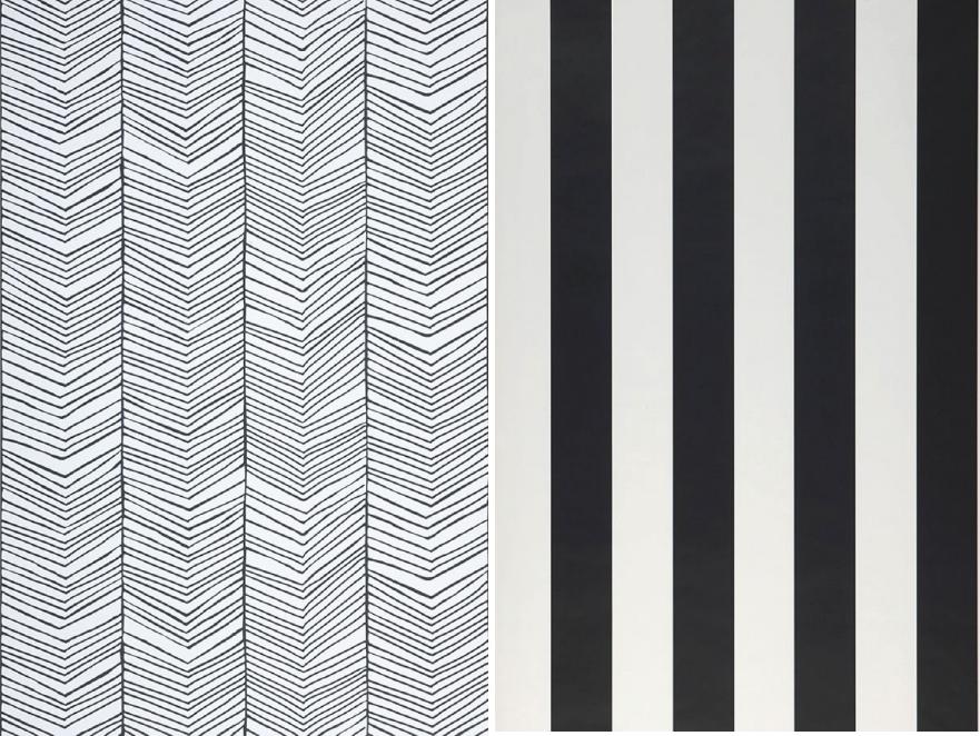 Carta da parati righe verticali for Carta da parati moderna bianca e nera