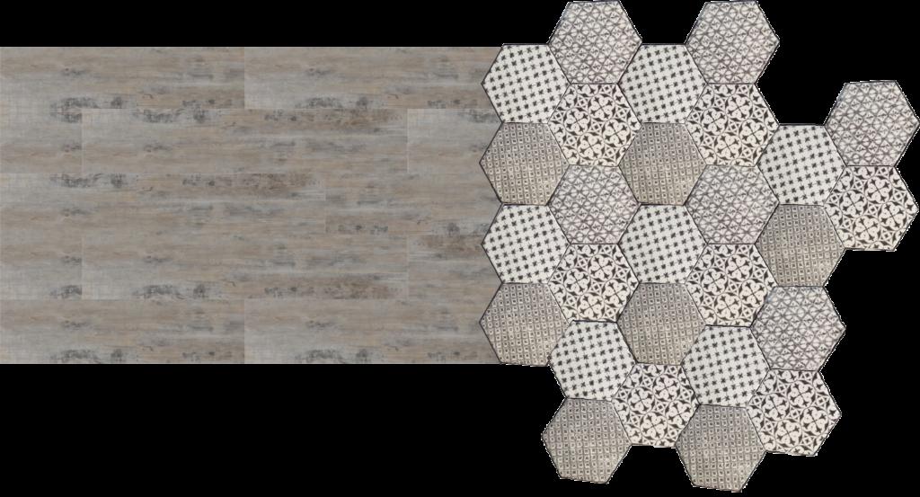 Accostare parquet gr s e cementine 5 consigli utili - Piastrelle esagonali colorate ...