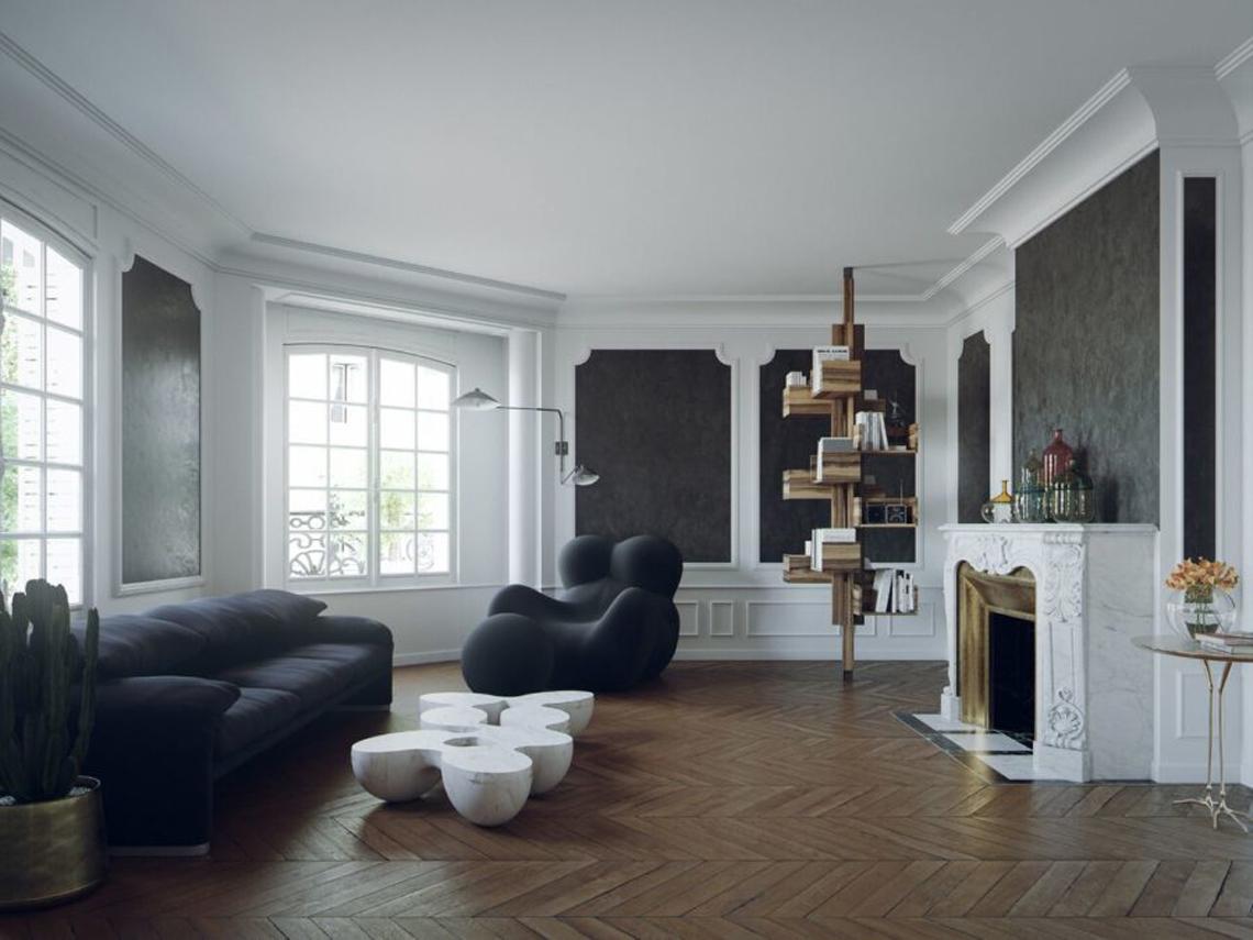 Marmorino e terrazzo alla veneziana, le tradizionali tecniche decorative veneziane in uno splendido appartamento a Parigi