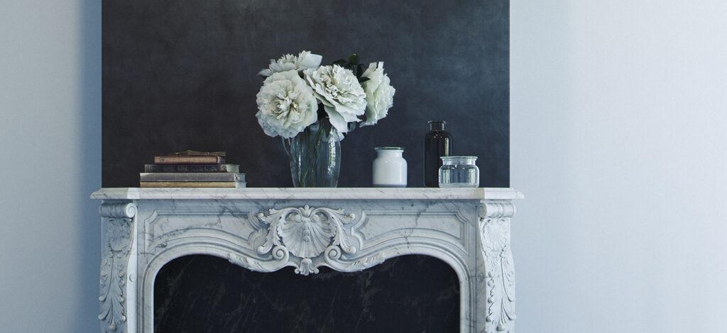 marmorino nero, idee di arredo