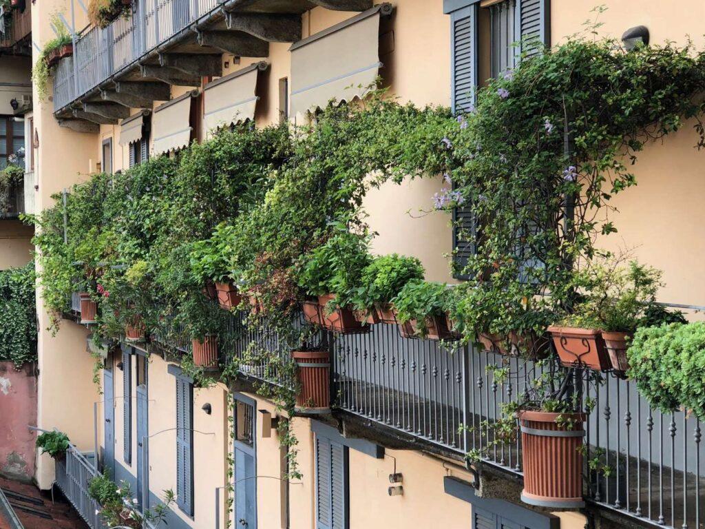 ispirazione per un piccolo balcone