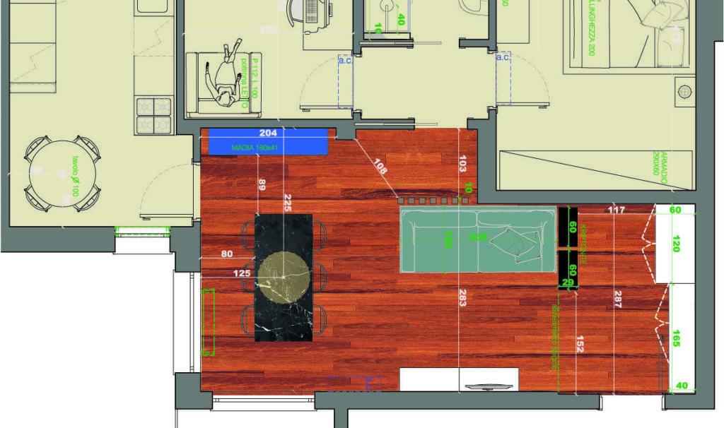 parquet iroko progetto per un appartamento